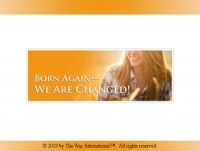 Title slide of Born Again—We Are Changed! slide presentation